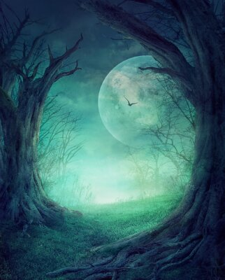Plakat Halloween Spooky Forest