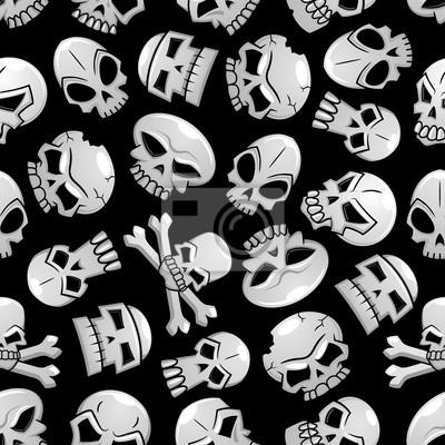 Halloween Szkielet czaszki bez szwu tła