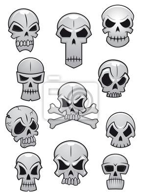 Halloween zestaw czaszki ludzkie