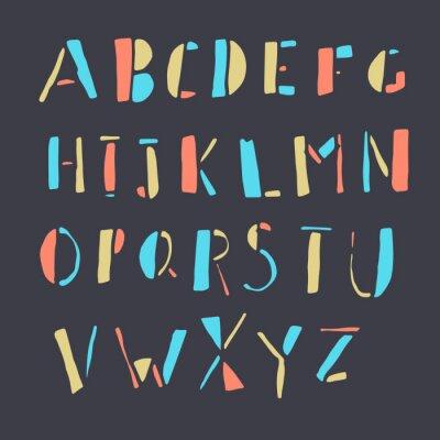 Plakat Hand-drawn Colorful Doodles Alphabet
