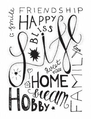 Plakat Happy Life opisowego