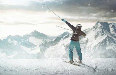 Plakat Happy Skier
