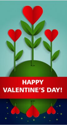 Happy Valentines Day Party Szablon plakatu