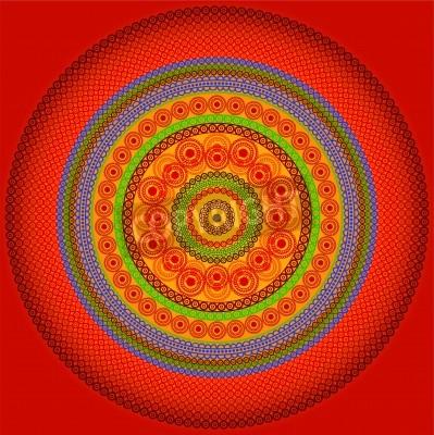 Plakat Henna mandala Projektowanie