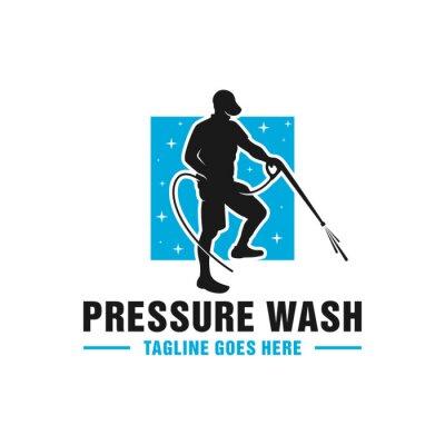 Plakat high pressure washing pipe logo