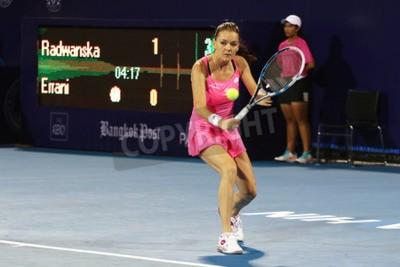 Plakat Hua Hin, Tajlandia - 01 stycznia 2016: Agnieszka Radwańska zajmuje 5 miejsce w świecie.