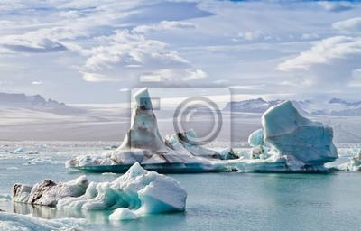 Plakat Icebergs in Jokulsarlon glacial lagoon, Iceland
