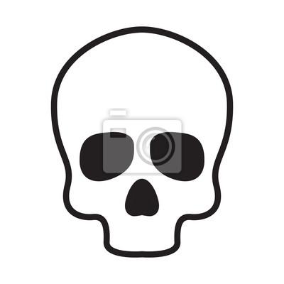 ikona czaszki wektor logo kości Halloween ilustracja postaci