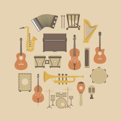 Plakat ikona instrumentem