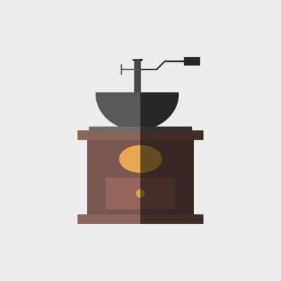 Plakat Ikona kawy projektowania