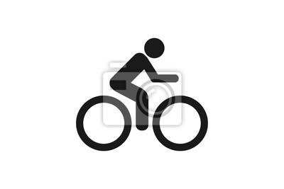 Plakat Ikona rower na białym tle