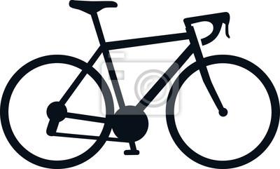 Plakat Ikona rower wyścigowy