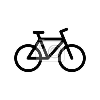 Plakat ikona rowerów