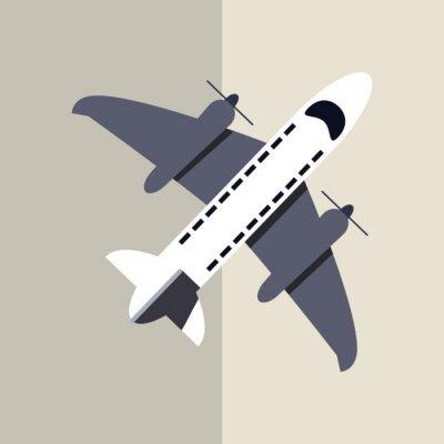 Plakat Ikona samolotu projektowania