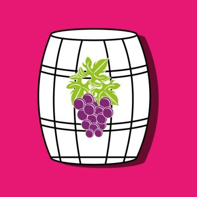 Plakat Ikona wino wzór
