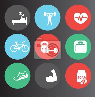 Ikony fitness zestaw 3