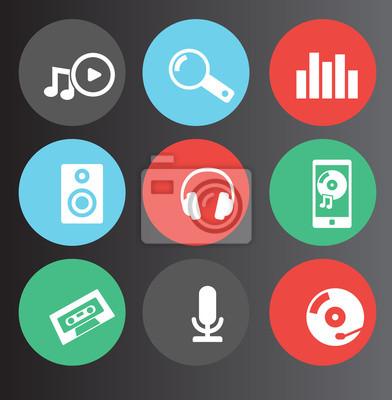 Ikony muzyki i dźwięku