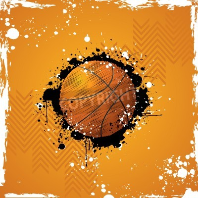 Plakat illustration of basketball on abstract grungy background