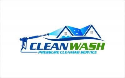 Plakat Illustration vector graphic of pressure power wash spray logo design template-26