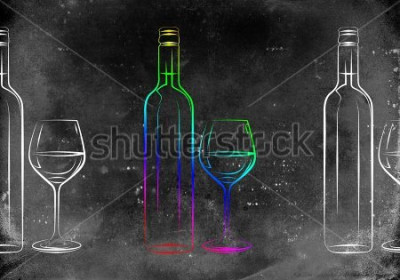 Plakat Ilustracja sztuki wina