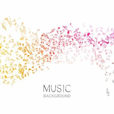 Plakat Ilustracja wektora Streszczenie tle muzyki
