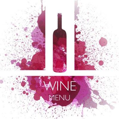Plakat Ilustracja wektora wina wzór szablonu