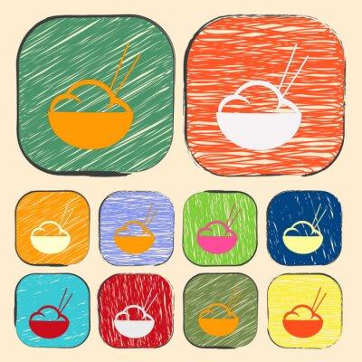 Plakat ilustracji wektorowych z ikoną nowoczesnej sylwetki
