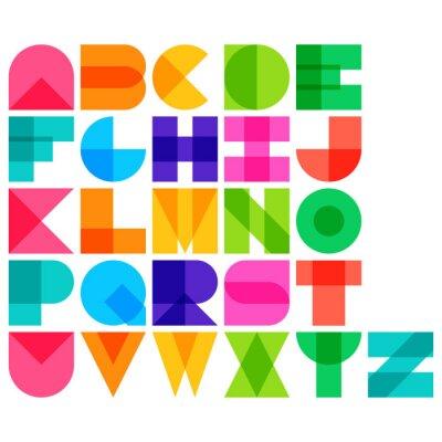 Plakat Ilustracji wektorowych z kolorem czcionki