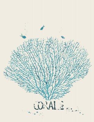 Plakat Ilustracji wektorowych z korala wentylatora