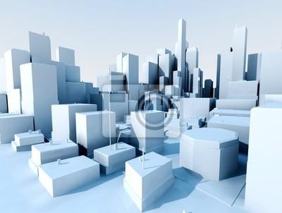 imagen 3d de ciudad