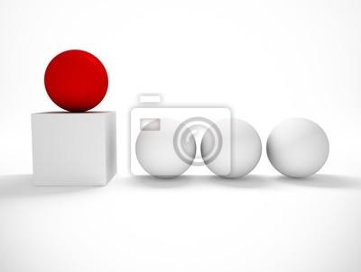 imagen 3d de concepto de exito