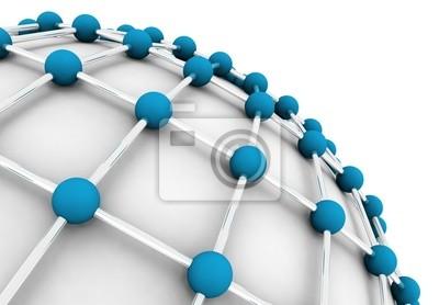imagen 3d de concepto de trabajo en red