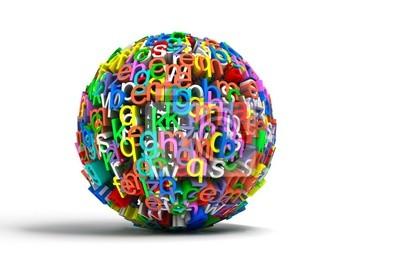 imagen koncepcyjne con bola de letras de colores