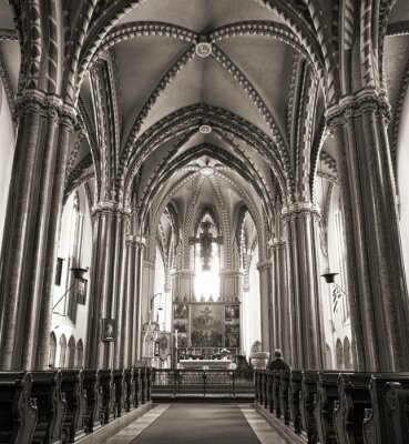 Plakat Inner City Parish Church w Budapeszcie