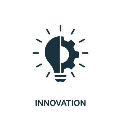 Plakat Innovation icon. Simple element from digital disruption collection. Filled Innovation icon for templates, infographics and more