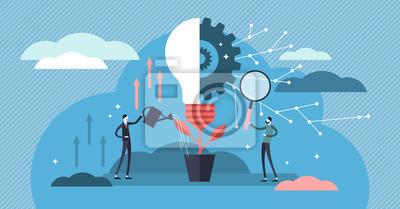 Plakat Innovation vector illustration. Flat tiny creativity ideas persons concept.