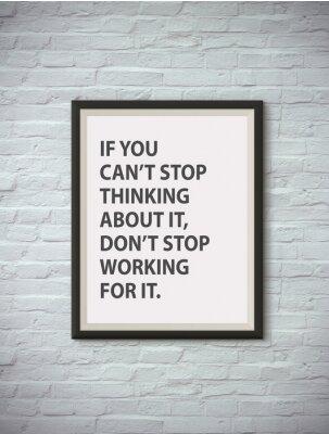 Plakat Inspirujące motywowanie cytat na ramie obrazu.