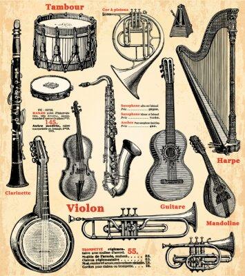 Plakat Instruments de Musique