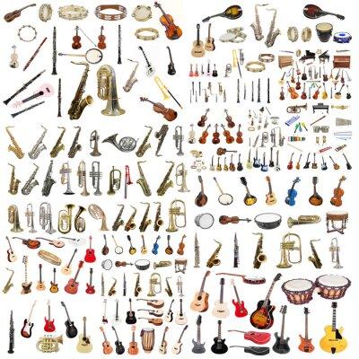Plakat instrumenty muzyczne