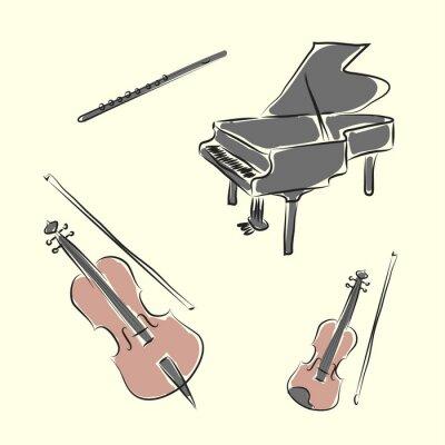 Instrumenty Muzyczne Plakaty Na ścianę Plakaty Tamburyn Marakasy