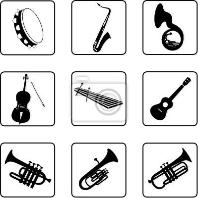 Instrumenty Muzyczne 6 Plakaty Na ścianę Plakaty Klawiatury