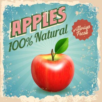 Plakat jabłka rocznika