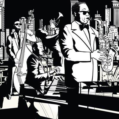 Plakat Jazz band playing in New York