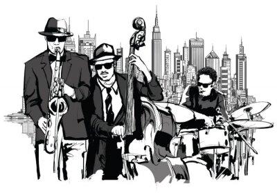 Plakat Jazz band w Nowym Jorku