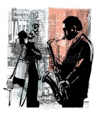 Plakat Jazz w Nowym Jorku - ilustracji wektorowych