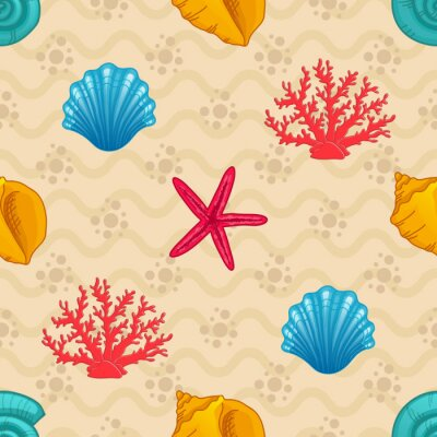 Plakat Jednolite wzór z muszli