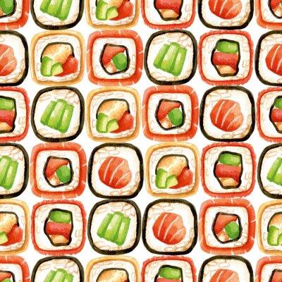Plakat Jednolite wzór z sushi