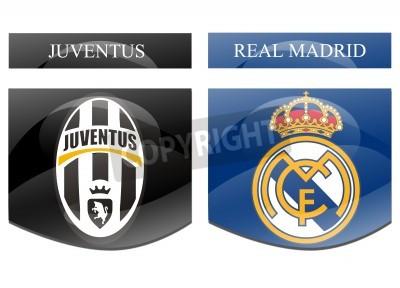 Plakat juventus vs real madrid