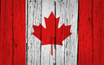 Plakat Kanada Flaga Grunge