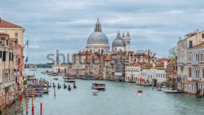 Plakat Kanał Grande i bazylika Santa Maria della Salute, Wenecja, Włochy